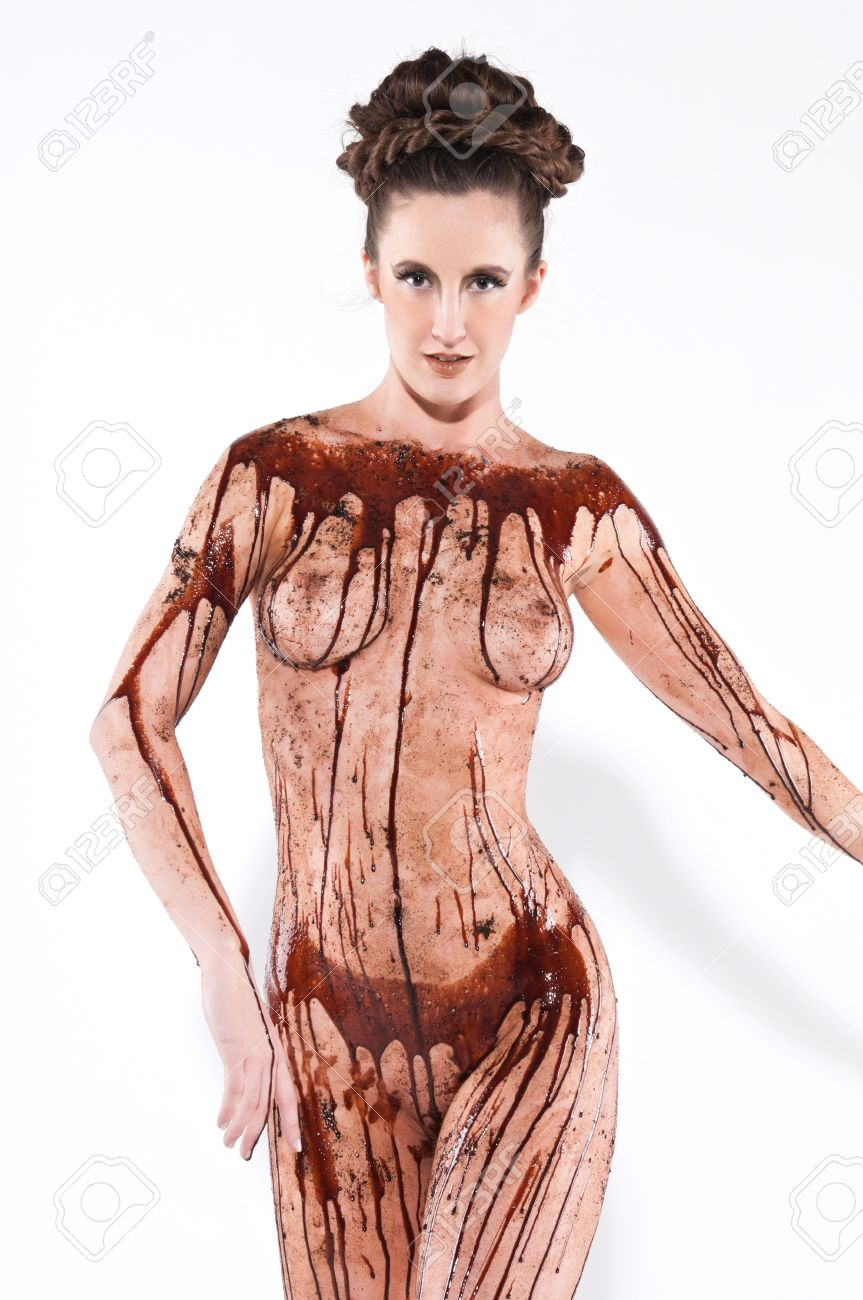 girls naked pics covered in chocolate