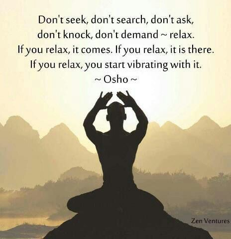 osho on relaxing mind
