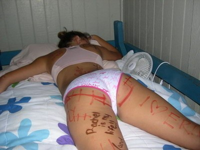 passed out no panties